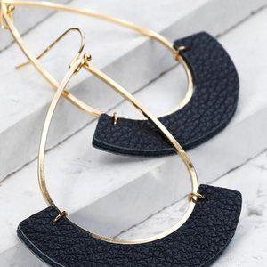 Jewelry - JUST SO SIMPLE OPEN TEAR DROP EARRINGS-BLACK